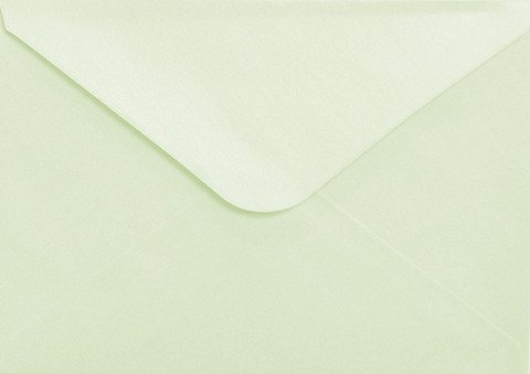 C6 Helmiäiskirjekuori - Vaaleanvihreä