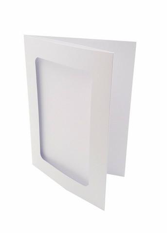 3-osainen aukollinen korttipohja valkoinen
