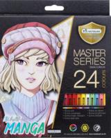 Puuvärikynäsetti 24kpl, Manga-sävyt