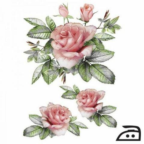 Silitettävä siirtokuva vaaleat ruusut