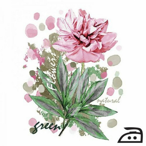 Silitettävä siirtokuva kukka