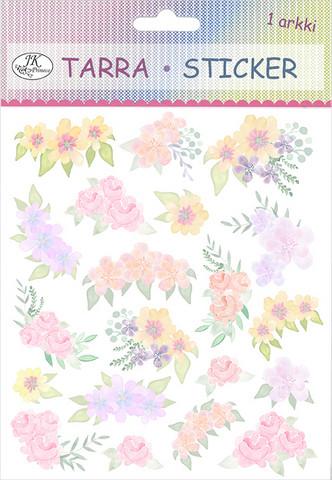 Tarra-arkki Kukat lila/pinkki