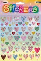 Tarra-arkki Sydämet Glitter
