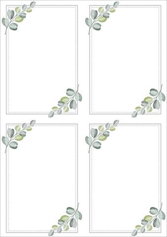 Koristetaustapaperi Eukalyptus A4/5ark