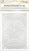Valkoinen koristekortti