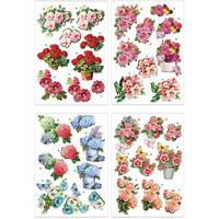 3D-kuvat kukat 4 arkkia