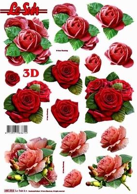 3D-arkki, ruusut/ stanssattu