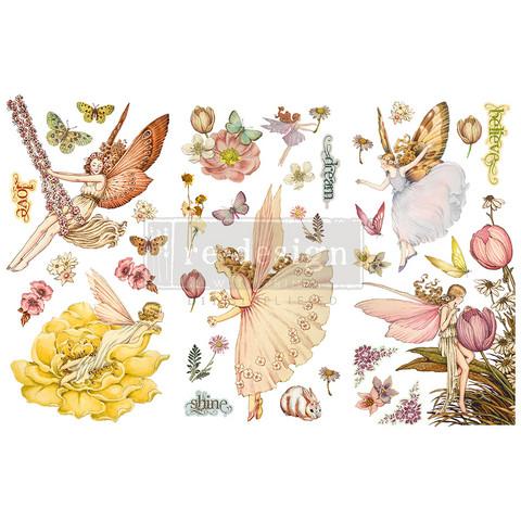 Siirtokuva Vintage Paint -  Fairy Flowers