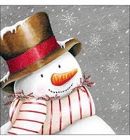 Servetti Hymyilevä lumiukko