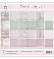 Kuviopaperit  Flower a Day-Groen/Lila