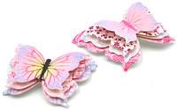 3D-askartelukuvio Perhonen pinkki