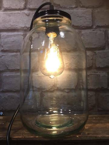 Lasipurkki-lamppu