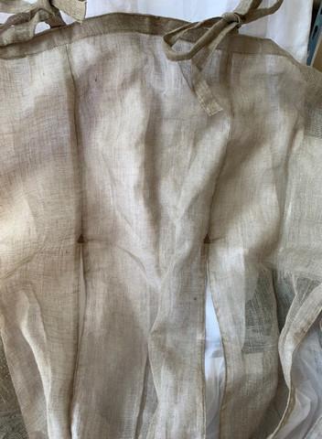 Pellava/puuvilla laskosverho