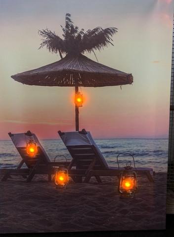 Led-taulu 30x40cm beach (puhallus toiminto)