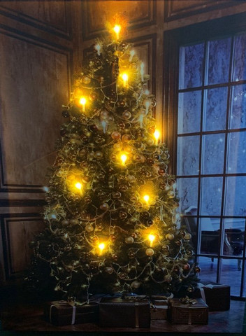 Led-taulu joulukuusi kartano (ajastin)