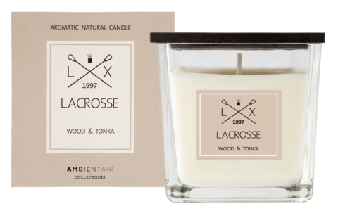 Ambientair tuoksukynttilä WOOD & TONKA, LACROSSE