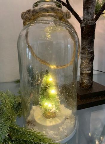 Joulukuusi led-lasipullo