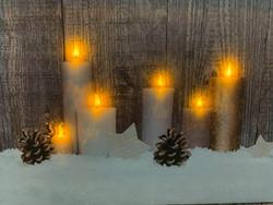 Pikku led-taulu 6-kynttilää