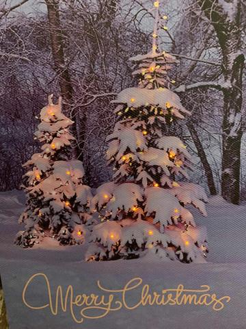 Pikku led-taulu joulukuuset