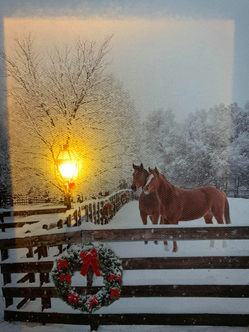 Pikku led-taulu hevoset