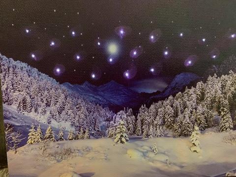 Pikku led-taulu tähtitaivas