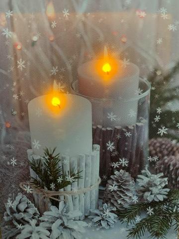 Pikku led-taulu kynttilä huurre