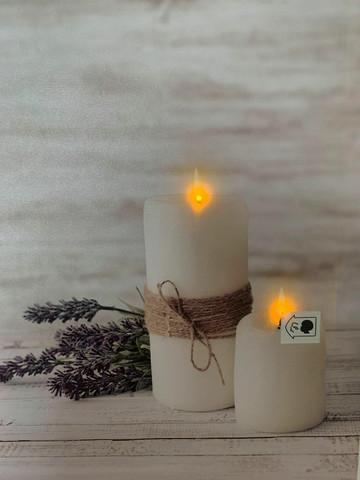 Led-taulu 30x40cm kynttilä Maria (puhallus toiminto)