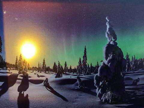 Pikku led-taulu revontuli Suomi