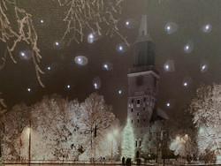 Pikku led-taulu Tuomiokirkko Turku