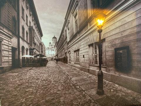 Pikku led-taulu Helsinki Sofiankatu