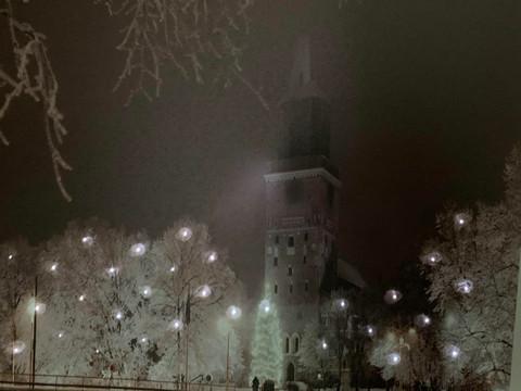 Led-taulu Tuomiokirkko Turku (ajastin)