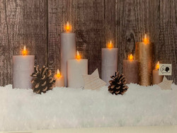Led-taulu kynttilä käpy (puhallustoiminto)