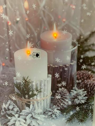 Led-taulu kynttilä huurre (puhallustoiminto)