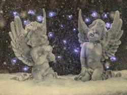 Pikku led-taulu enkeli