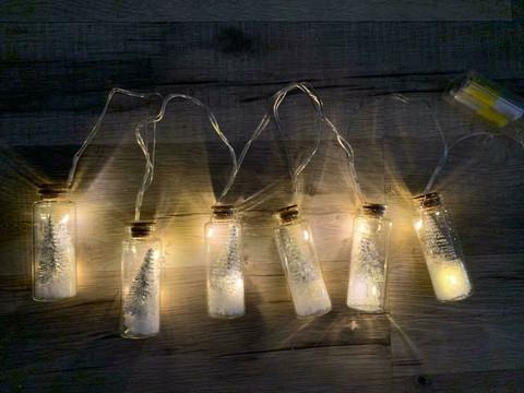 Kuusipullo led-valot (hopea)