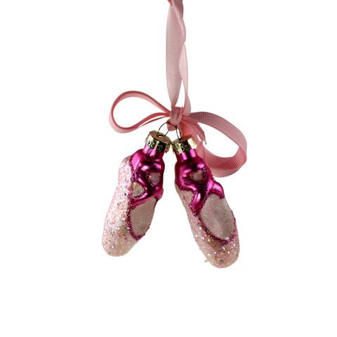 Balettikengät, pinkki, lasia