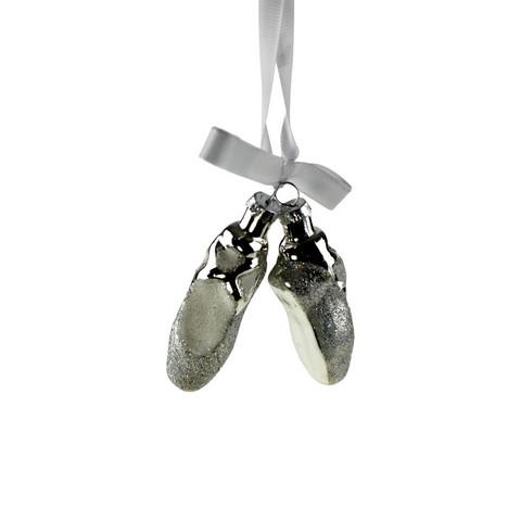 Balettikengät, hopea, lasia