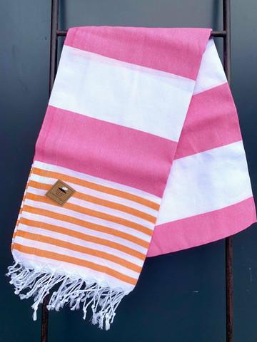 Hamam pyyhe SUMMER, pinkki/oranssi, 100x180cm