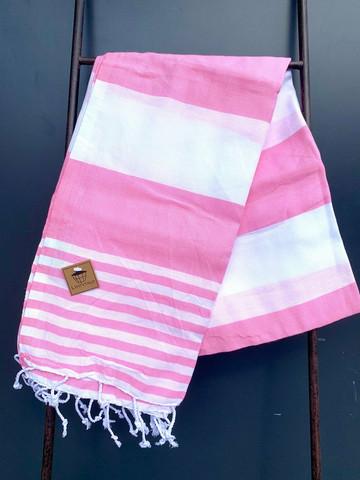 Hamam pyyhe SUMMER, vaaleanpunainen, 100x180cm