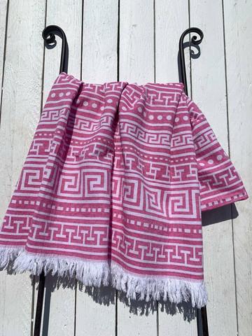 Hamam pyyhe BEACH, pinkki, 90x170cm