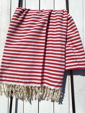 Hamam pyyhe HAPPY, punainen, 100x180cm