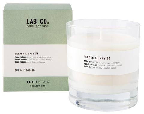Ambientair tuoksukynttilä PEPPER & IRIS #3, LAB CO.