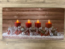 Led-taulu 20x40cm Joulun odotus (puhallustoiminto)