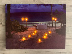 Led-taulu 30x40cm romantic dinner (ajastin)