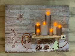 Led-taulu 30x40cm reki kynttilöillä (puhallustoiminto)