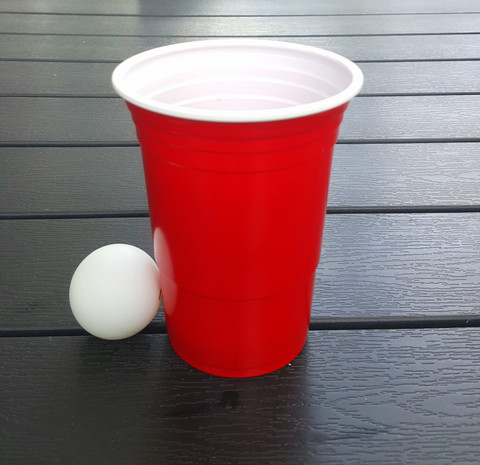 Beer pong kit - 25 mukia - 4 palloa