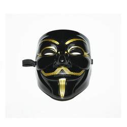 Guy Fawkes -naamari , musta
