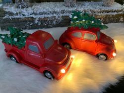 Punaiset autot led-valoilla