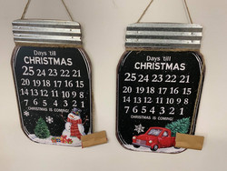 Joulukalenteri liitutaulu