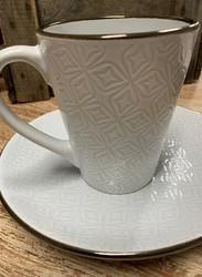 Kahvikuppi Viola, Valkoinen